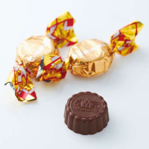 Round Plain milk chocolate 1pcs